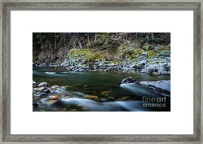 Mossy Rocks Framed Print by Mitch Shindelbower