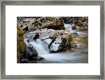 Rushingwaters 3/22/2014 Framed Print by Guy Hoffman