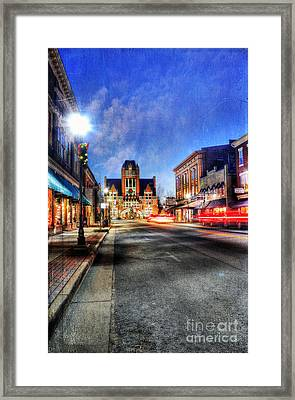 Most Beautiful Small Town In America At Christmas Framed Print