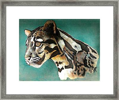 Most Elegant Leopard Framed Print by VLee Watson
