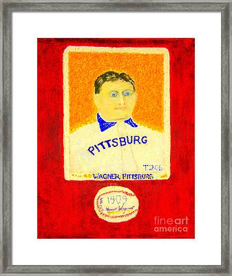 Most Expensive Baseball Card Honus Wagner T206 2 Framed Print by Richard W Linford