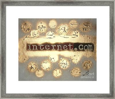Framed Print featuring the painting Most Expensive Domain Name In The World 1 by Richard W Linford