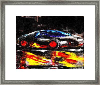 Most Expensive Fastest Car Bugatti Veyron Super Sport 3 Framed Print by Richard W Linford