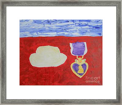 Framed Print featuring the painting Most Expensive Heart  by Richard W Linford