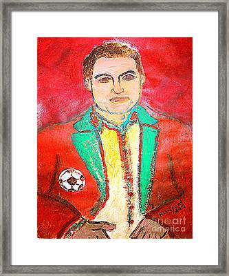Most Expensive Soccer Player Cristiano Renaldo 1 Framed Print by Richard W Linford