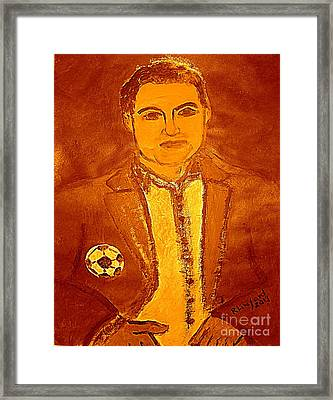 Most Expensive Soccer Player Cristiano Renaldo 2 Framed Print by Richard W Linford