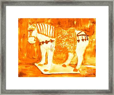 Most Expensive Tang Horse Porcelain 4 Framed Print by Richard W Linford