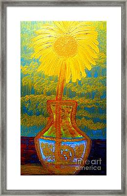 Most Expensive Chinese Qing Dynasty Eighty Five Million Dollar Vase And Van Gogh Gold Sunflower 1 Framed Print by Richard W Linford