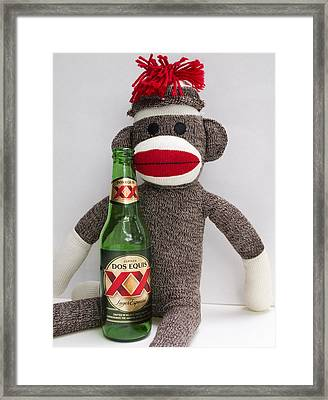 Most Interesting Sock Monkey In The World Framed Print by William Patrick