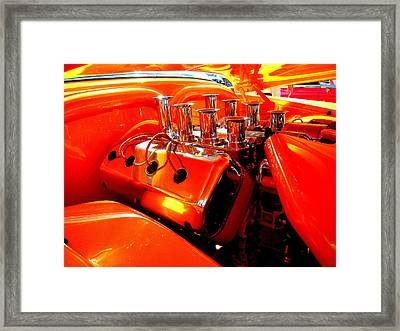 Framed Print featuring the photograph Most Powerful Orange In The World With Tiny Hand by Don Struke