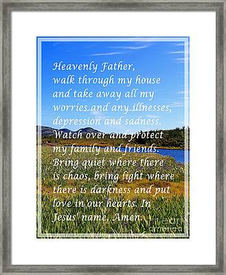 Most Powerful Prayer With Irises Framed Print by Barbara Griffin