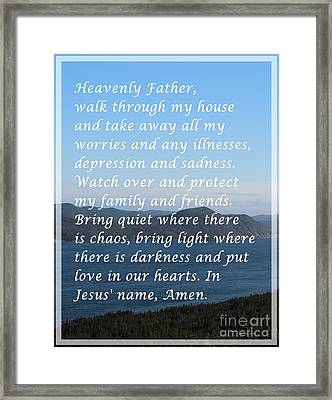 Most Powerful Prayer With Ocean View Framed Print by Barbara Griffin