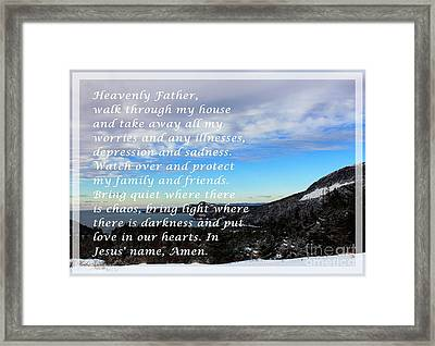 Most Powerful Prayer With Winter Scene Framed Print by Barbara Griffin