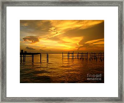 Framed Print featuring the photograph Most Venerable Sunset by Kathy Bassett