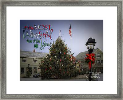 Most Wonderful Christmas Framed Print by Brenda Giasson