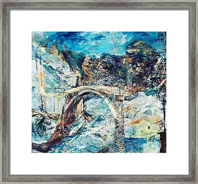 Mostar Bridge Framed Print by Jelena Ignjatovic