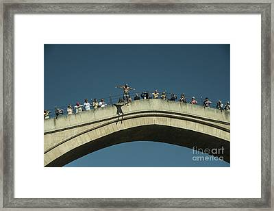 Mostar Jumper  Framed Print by Rob Hawkins