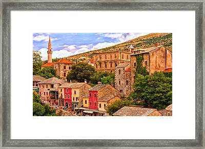 Mostar Framed Print by Michael Pickett