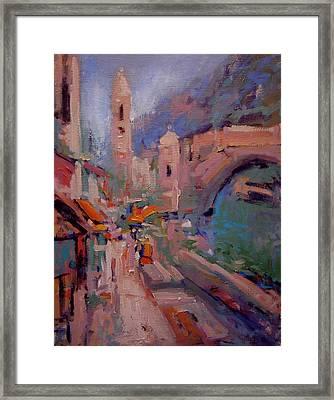 Mostar Framed Print by R W Goetting