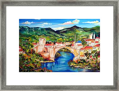 Mostar Framed Print