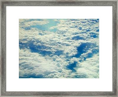Framed Print featuring the photograph Mostly Cloudy by Mark Greenberg