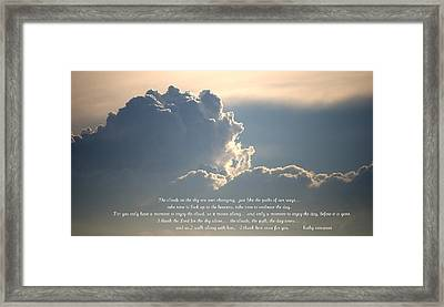 Mostly You Framed Print