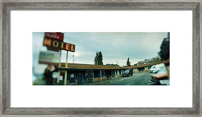 Motel At The Roadside, Aurora Avenue Framed Print by Panoramic Images