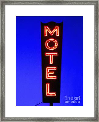 Motel Framed Print by Diane Diederich