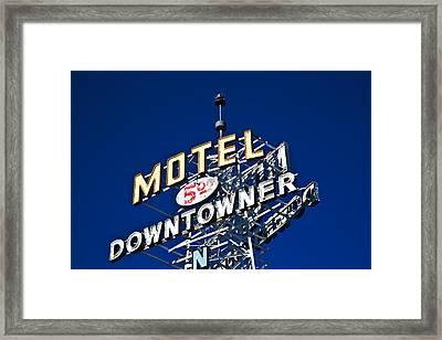 Motel Downtowner Framed Print
