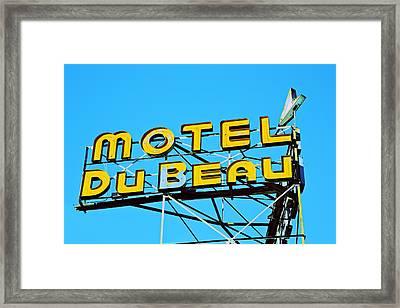 Motel Du Beau Framed Print