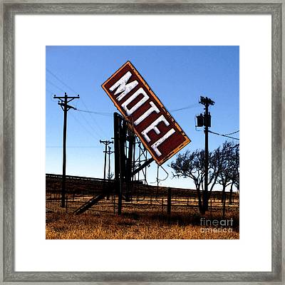 Motel - Route 66 Framed Print