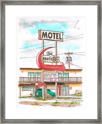 Motel Route 66 In Route 66, Andy Devine Ave., Kingman, Arizona Framed Print