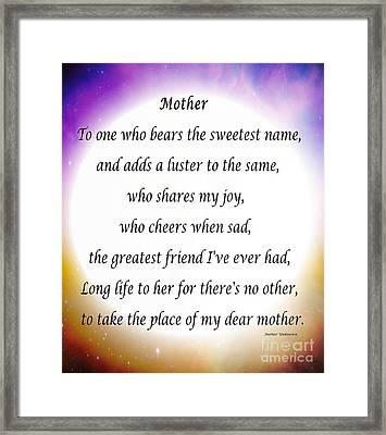 Mother - Circle Of Love Framed Print