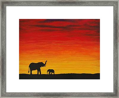 Framed Print featuring the painting Mother Africa 1 by Michael Cross
