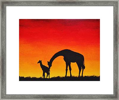 Framed Print featuring the painting Mother Africa 2 by Michael Cross