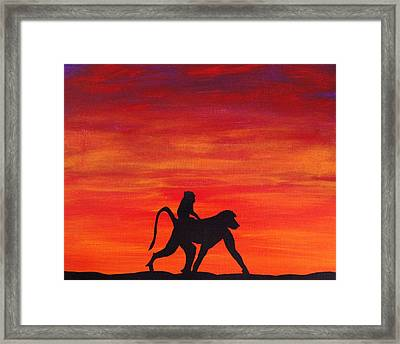 Framed Print featuring the painting Mother Africa 4 by Michael Cross