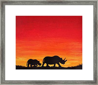 Framed Print featuring the painting Mother Africa 5 by Michael Cross