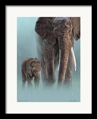 Digital Drawing Framed Prints