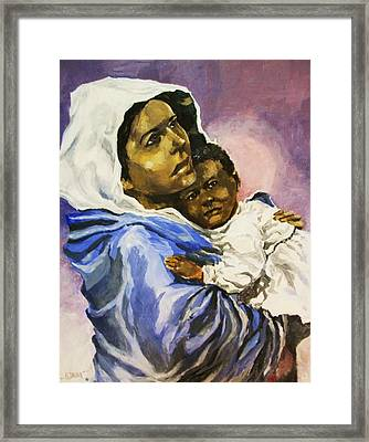 Mother And Child Framed Print by Al Brown
