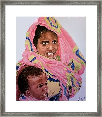 Mother And Child Framed Print by Arron Kirkwood