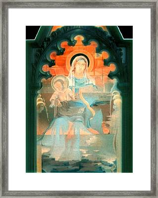 Mother And Child By Fabriano 1975 Framed Print by Glenn Bautista