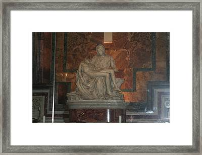 Mother And Child Framed Print by Dick Willis