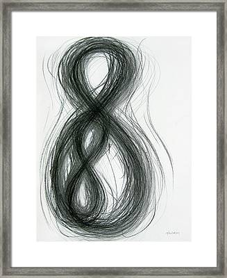 Mother And Child Figure-eight Study Framed Print by Michael Morgan