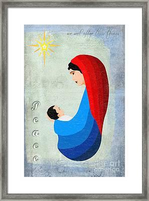 Virgin Mary And Child Framed Print by Gillian Singleton