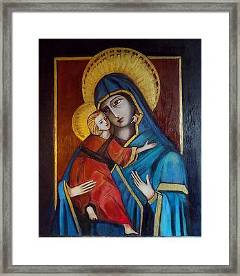 Mother And Child Framed Print by Irena Mohr