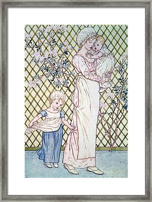 Mother And Child Framed Print by Kate Greenaway