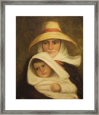 Mother And Child Framed Print by    Michaelalonzo   Kominsky