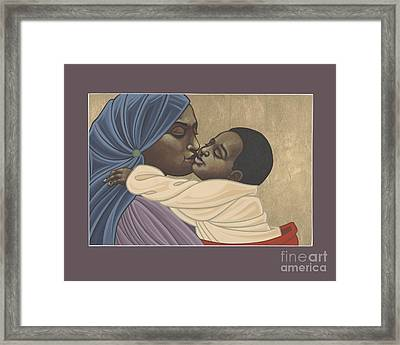 Framed Print featuring the painting Mother And Child Of Kibeho 131 by William Hart McNichols