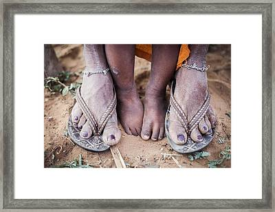 Mother And Child Framed Print by Piyush Goswami