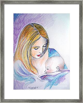 Mother And Child Framed Print by Roberto Gagliardi